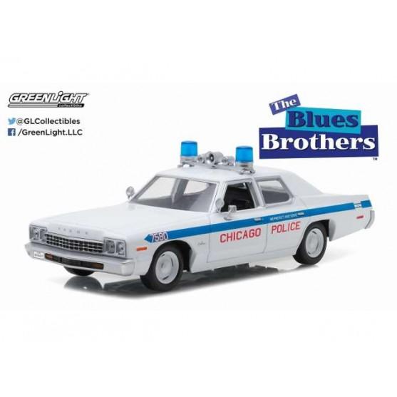 DODGE Monaco 1975 Chicago Police Blues Brothers modello di auto 1:24//Greenlight