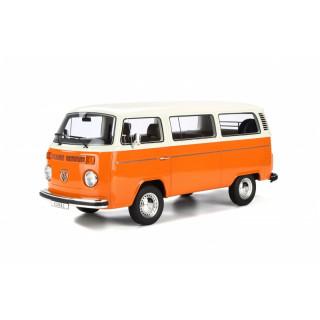 Volkswagen Kombi T2 arancio-bianco 1:12