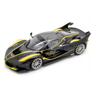Ferrari FXX K black with yellow stripes 44 J. Taylor 1:18