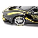 Ferrari FXX K black with yellow stripes 44 J. Taylor 1:18