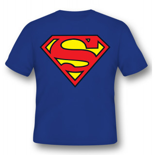 Superman Logo T-Shirt Cotone