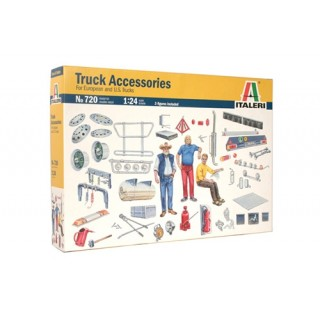 Truck Accessories for European and US Truck Kit 1:24