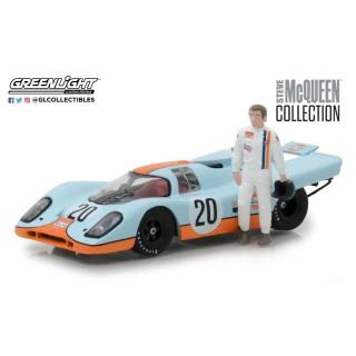 Porsche 917K Gulf with figure Steve Mcqueen 1:43