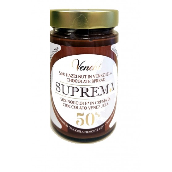 Venchi Crema Spalmabile Suprema Venezuela 50% nocciole 300gr