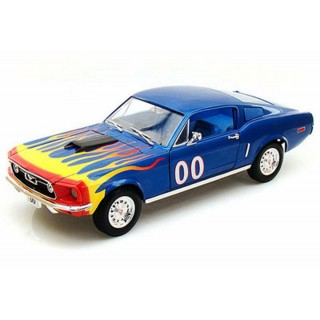 """Ford Mustang 1968 """"Cooter's"""" 00 Blue With Flames """"The Dukes of Hazzard"""" 1:18"""