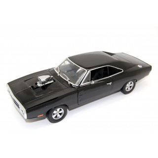 "Dodge Charger 1970 Doms ""The Fast & the Furious 2001"" with Blown Engine black 1:18"