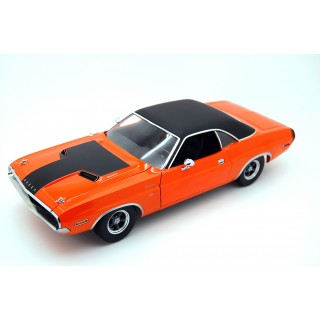 "Dodge Challenger R/T 1970 Darden's ""The Fast & the Furious II 2003"" Orange Black roof 1:18"