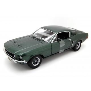 Ford Mustang GT Green 1968 Bullit Steve Mcqueen 1:18