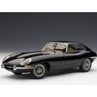 JAGUAR E-TYPE COUPE SERIES I 3.8 (BLACK) (WITH METAL WIRE SPOKE WHEELS) 1:18