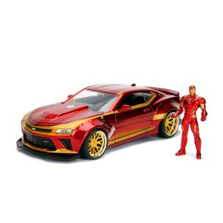 "Chevrolet Camaro 2016 ""Iron Man"" con personaggio 1:24"