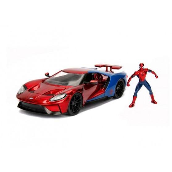 """Ford GT 2017 """"Spider Man"""" con personaggio 1:24"""