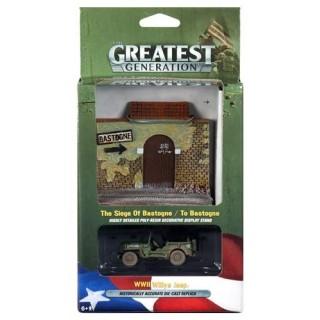 The Greatest Generation Diorama World War II Jeep Willys 1:64